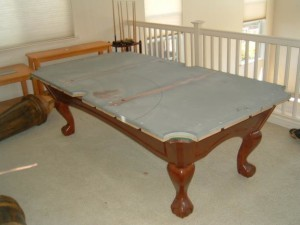 Proper pool table moving process in Merced California